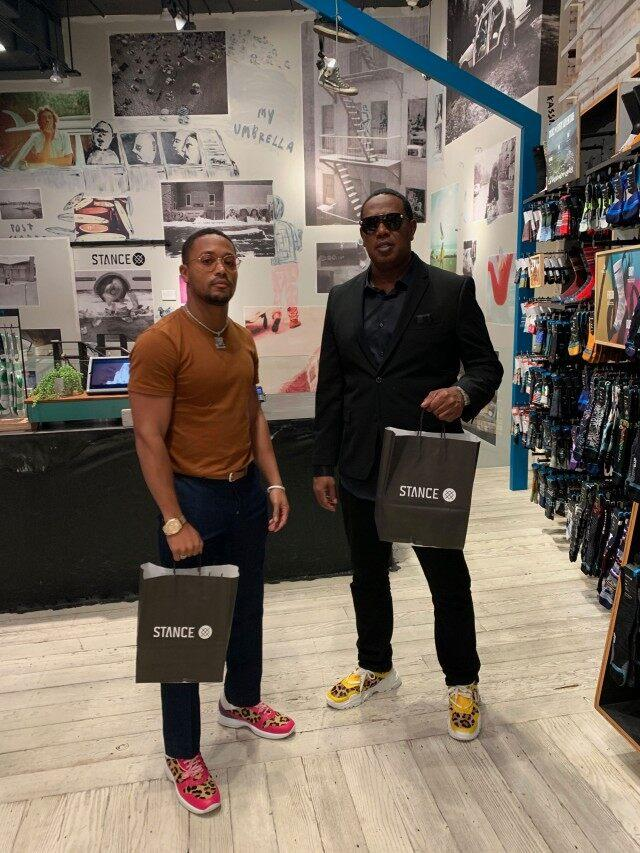 Master P and Lil Romeo shop in nyc