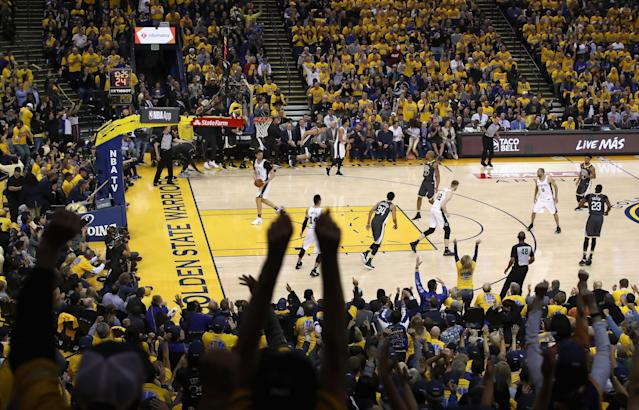 A longtime Bay Area sports broadcaster reportedly stole a Warriors security staffer's jacket while covering the team in San Antonio last week. (Photo by Ezra Shaw/Getty Images)