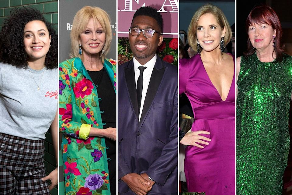 <p>Rose Matafeo, Joanne Lumley, Kwame Kwei-Armah, Darcey Bussell and Janet Street-Porter</p> (ES Composite)