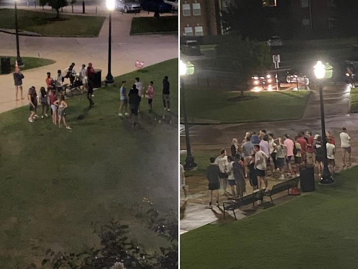 UA students gathering outside
