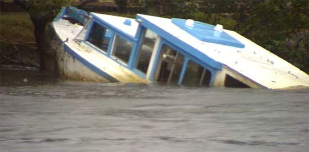 Flooding caused destruction for boats along the NSW coast. Photo: 7News