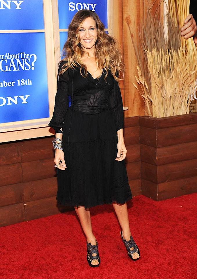 "Sarah Jessica Parker went for basic black at the New York premiere of ""Did You Hear About the Morgans?"". Bryan Bedder/<a href=""http://www.gettyimages.com/"" target=""new"">GettyImages.com</a> - December 14, 2009"