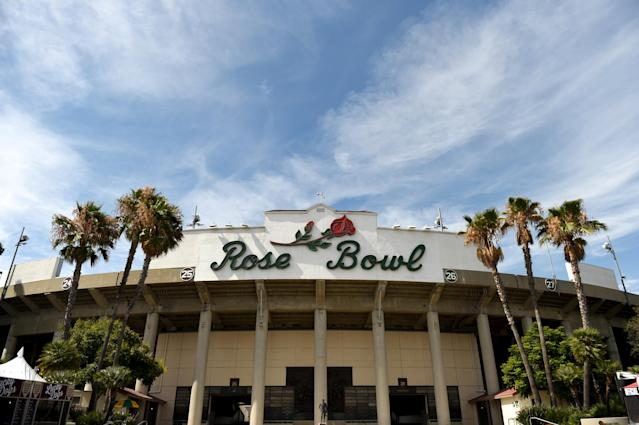 A man was shot and killed in the Rose Bowl parking lot on Saturday night. (Photo By Cody Glenn/Sportsfile via Getty Images)