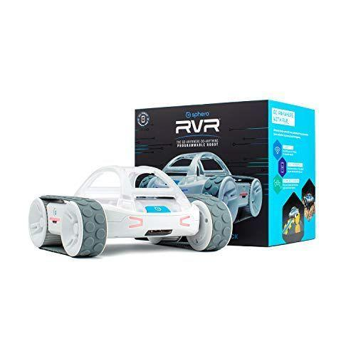 """<p><strong>Sphero</strong></p><p>amazon.com</p><p><strong>$206.98</strong></p><p><a href=""""https://www.amazon.com/dp/B07RBBRQW3?tag=syn-yahoo-20&ascsubtag=%5Bartid%7C10048.g.34727939%5Bsrc%7Cyahoo-us"""" rel=""""nofollow noopener"""" target=""""_blank"""" data-ylk=""""slk:Buy Now"""" class=""""link rapid-noclick-resp"""">Buy Now</a></p><p>The Sphero RVR is perfect for kids whose interests include both cars and computers. This programmable robot comes with an app that teaches the user how to code while encouraging your child to actually hack its CPU to make it do even cooler things.<br></p>"""
