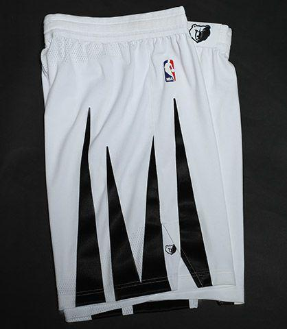 A detail look at the shorts on the Memphis Grizzlies' MLK50 uniforms. (Image via Memphis Grizzlies)