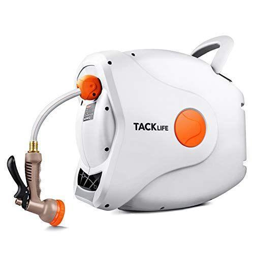 "<p><strong>Tacklife Retractable Garden Hose Reel</strong></p><p>amazon.com</p><p><strong>$179.99</strong></p><p><a href=""https://www.amazon.com/dp/B08B84GD72?tag=syn-yahoo-20&ascsubtag=%5Bartid%7C10050.g.35902961%5Bsrc%7Cyahoo-us"" rel=""nofollow noopener"" target=""_blank"" data-ylk=""slk:Shop Now"" class=""link rapid-noclick-resp"">Shop Now</a></p><p>If you don't want to bother buying a separate hose, this simple hose is a snap. It can be mounted, or carried around the yard by its handle, and the 100-foot spring-loaded hose will automatically retract, making rewinding very easy.</p>"