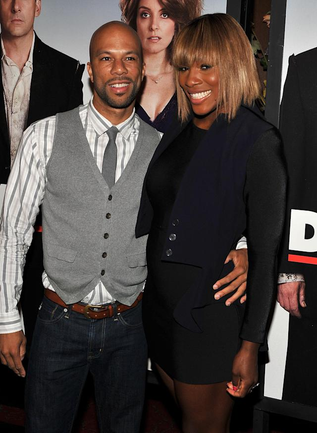 NEW YORK - APRIL 06: Common and tennis player Serena Williams attends the premiere of 'Date Night' at Ziegfeld Theatre on April 6, 2010 in New York City. (Photo by Theo Wargo/WireImage)
