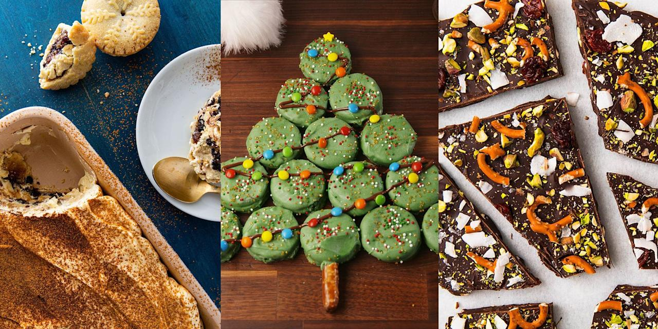 """<p>Not in the market for a traditional <a href=""""https://www.delish.com/uk/cooking/recipes/a29682325/gluten-free-christmas-pudding/"""" target=""""_blank"""">Christmas Pudding</a> this year? No worries, we've rounded up a selection of fun to make, delicious-tasting (some might say alternative) Christmas desserts that you're bound to love. Think <a href=""""https://www.delish.com/uk/cooking/recipes/a29322040/mince-pie-tiramisu/"""" target=""""_blank"""">Mince Pie Tiramisu</a>, <a href=""""https://www.delish.com/uk/cooking/recipes/a29685470/creme-brulee-cheesecake-recipe/"""" target=""""_blank"""">Creme Brûlée Cheesecake</a> or <a href=""""https://www.delish.com/uk/cooking/recipes/a29685979/oreo-christmas-tree-recipe/"""" target=""""_blank"""">Oreo Christmas Tree</a>. There's so much you can do to make the big day even more special, and we're convinced these Christmas dessert recipes are the way forward! </p>"""