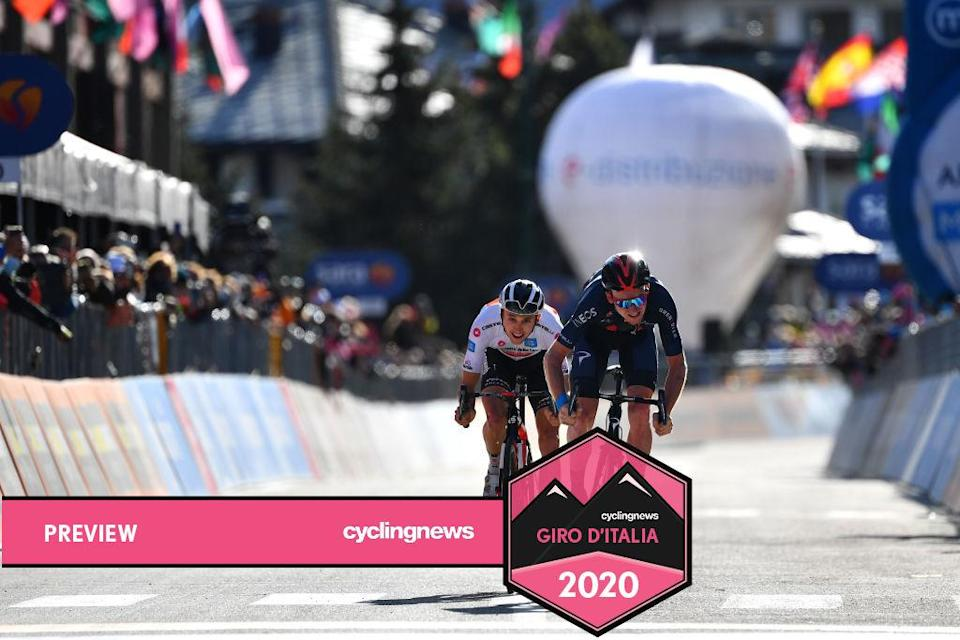 Tao Geoghegan Hart beat Jai Hindley to the win on stage 20 at the 2020 Giro d'Italia