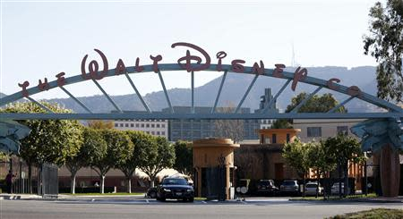 The entrance gate to The Walt Disney Co is pictured in Burbank
