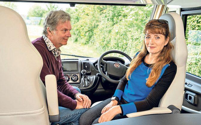 Room to relax: at 24ft long, the motorhome was spacious - Emily Barker / Curve Media