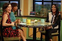 Kit Hoover, Holly Robinson Peete and Keke Palmer laugh on Access Hollywood Live on March 2, 2012 -- Access Hollywood