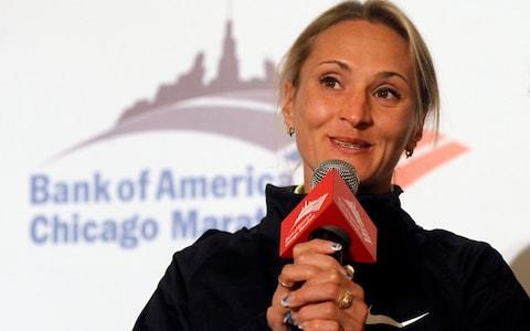 <span>Former London Marathon winner Lilya Shobukhova</span> <span>Credit: AP </span>