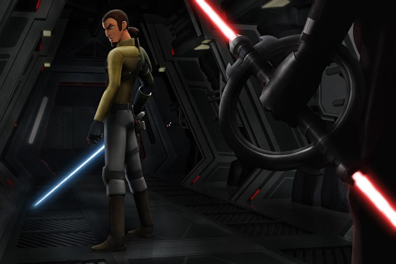 """Cowboy Jedi"" Kanan Jarrus, voiced by Freddie Prinze Jr., in 'Star Wars Rebels' (Photo: Disney XD / Courtesy: Everett Collection)"