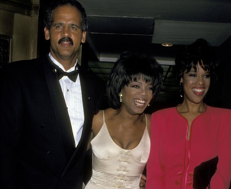 Stedman, Oprah and Gayle King at The 21st Annual Daytime Emmy Awards. (Photo: Jim Smeal via Getty Images)