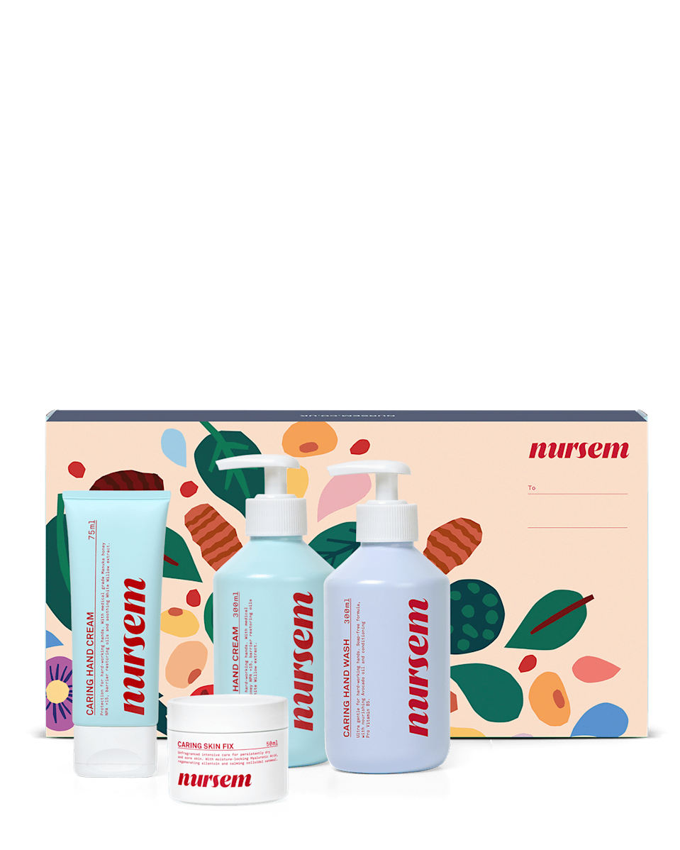 """<p><a class=""""link rapid-noclick-resp"""" href=""""https://go.redirectingat.com?id=127X1599956&url=https%3A%2F%2Fwww.nursem.co.uk%2Fproducts%2Ffull-range-gift-set&sref=https%3A%2F%2Fwww.elle.com%2Fuk%2Fbeauty%2Fg34832052%2Findependent-beauty-brand-christmas-gift-guide%2F"""" rel=""""nofollow noopener"""" target=""""_blank"""" data-ylk=""""slk:SHOP NOW"""">SHOP NOW</a></p><p>2020 has taken its toll on a lot of things but the NHS and our hands are two worth mentioning. Why not treat them both this Christmas with this ultimate TLC kit for sore hands. With every product purchased from the brand, Nursem gives a month's worth of hand cream to a nurse or midwife. </p>"""