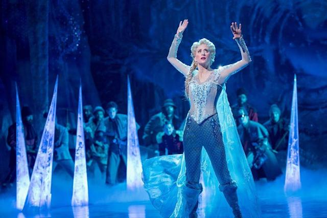 Elsa wearing pants. (Photo: Disney Theatrical Productions)