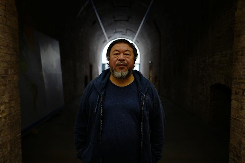 "Chinese artist Ai Weiwei and his film crews have visited migrant and refugee hotspots across 22 countries for his epic documentary project ""Human Flow"" (AFP Photo/John MACDOUGALL)"