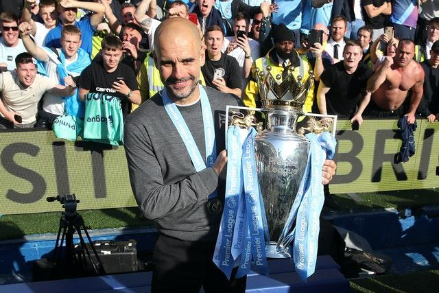 Guardiola has twice guided City to the Premier League title