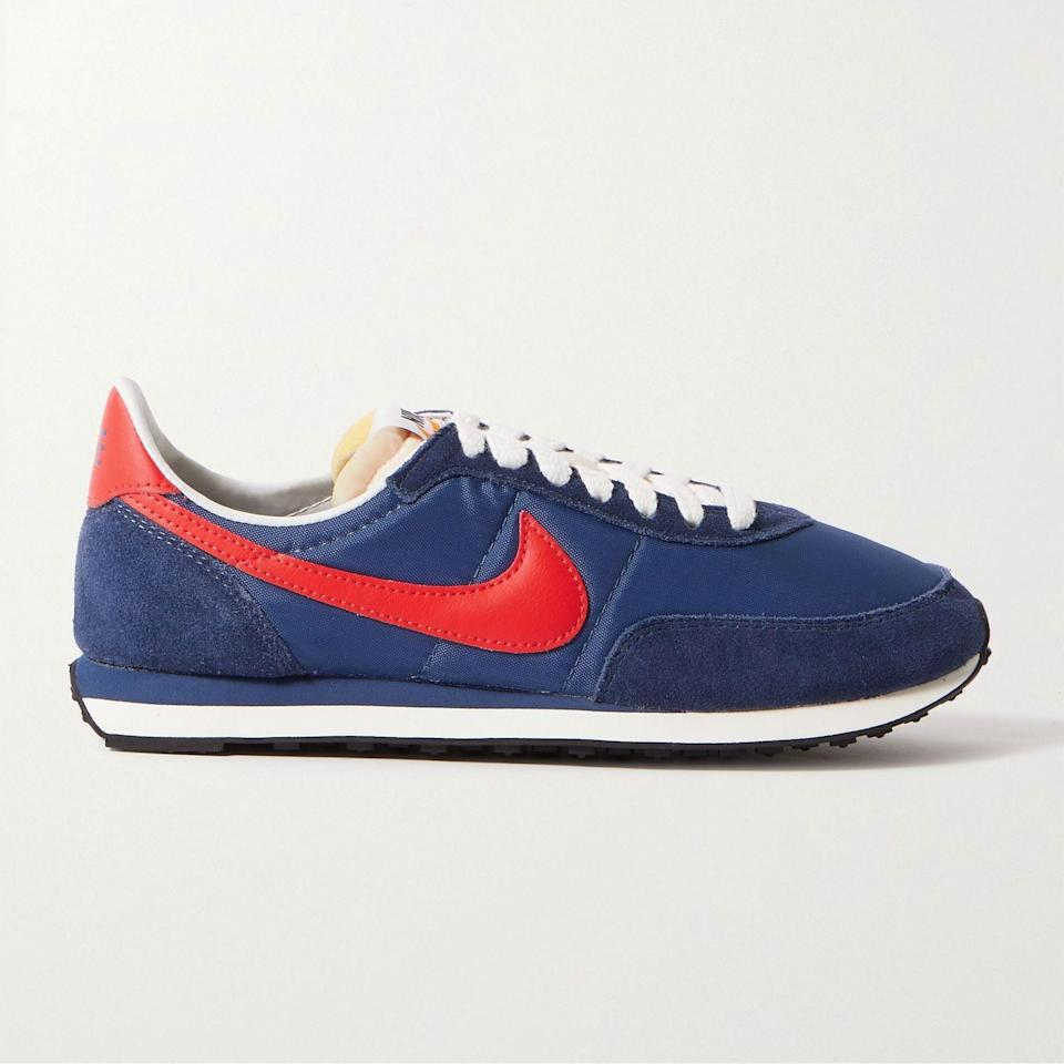 """<p><strong>NIKE</strong></p><p>mrporter.com</p><p><a href=""""https://go.redirectingat.com?id=74968X1596630&url=https%3A%2F%2Fwww.mrporter.com%2Fen-us%2Fmens%2Fproduct%2Fnike%2Fshoes%2Flow-top-sneakers%2Fwaffle-2-sp-leather-and-suede-trimmed-nylon-sneakers%2F4394988609180999&sref=https%3A%2F%2Fwww.esquire.com%2Fstyle%2Fmens-fashion%2Fg36651914%2Fmr-porter-sale-june-2021%2F"""" rel=""""nofollow noopener"""" target=""""_blank"""" data-ylk=""""slk:Shop Now"""" class=""""link rapid-noclick-resp"""">Shop Now</a></p><p><del>$100.00</del> <strong>$70.00 (30% off)</strong> </p><p>Classic kicks at a very friendly price.</p>"""