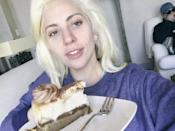 """<p><strong>When: March 29, 2016 </strong><br> """"I saved a piece of birthday cake my fans. You made my 20s worth it all. To spreading love, above all things."""" Gaga posted this makeup-free selfie on Twitter to celebrate her 30th birthday. (Photo: Twitter) </p>"""