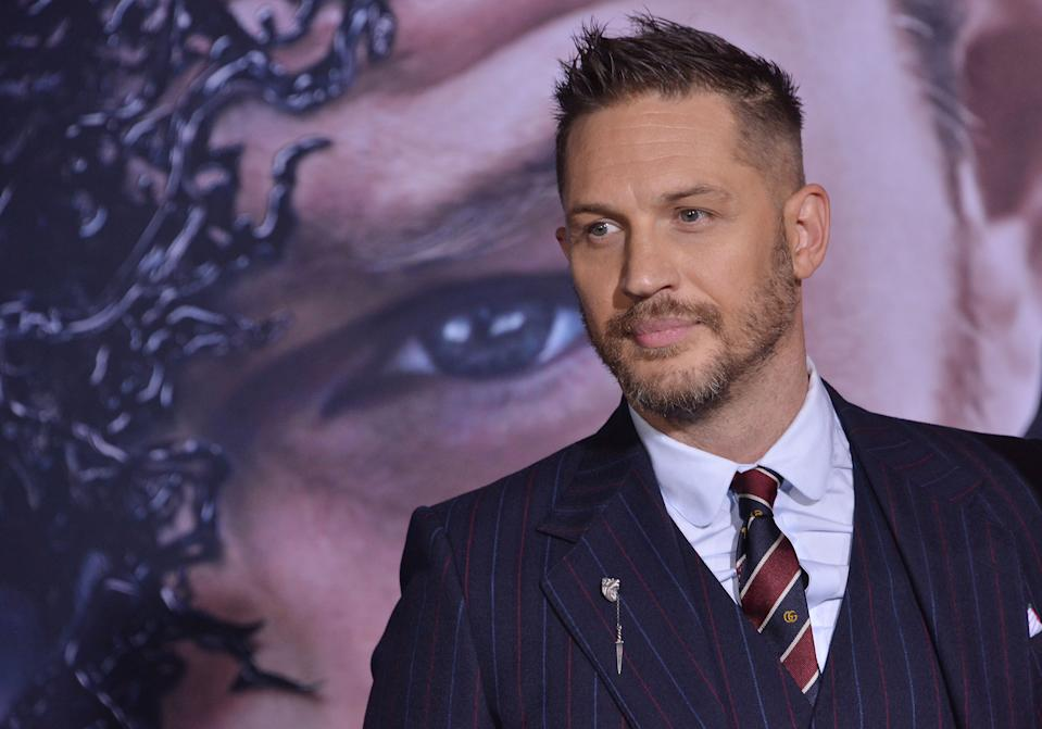 Tom Hardy arrives at the �Venom� Los Angeles Premiere held at the Regency Village Theater in Westwood, CA on Monday, October 1, 2018. (Photo By Sthanlee B. Mirador/Sipa USA)
