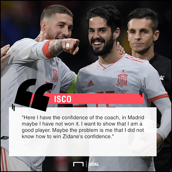 After scoring a hat-trick in a thrilling 6-1 demolition of Argentina, the Blancos playmaker admitted to having greater support at international level