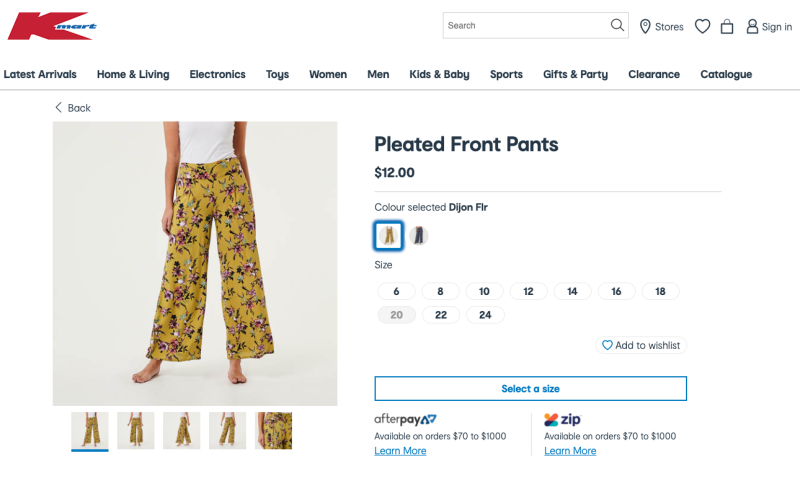 Kmart The Pleated Front Pants mustard colour