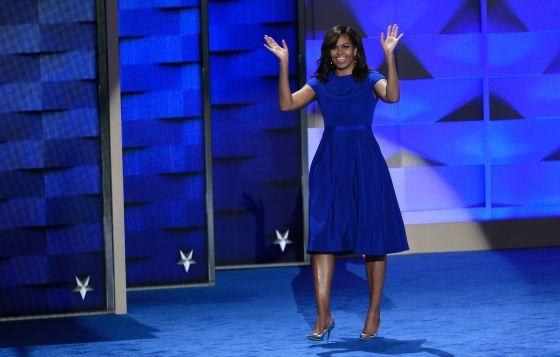 SAUL LOEB-AFP/Getty Images Michelle Obama on Day 1 of the Democratic National Convention in Philadelphia, Pennsylvania.