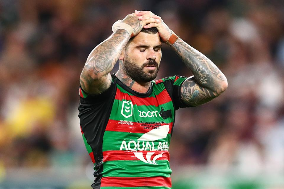 Adam Reynolds (pictured) looks dejected during the 2021 NRL Grand Final match between the Penrith Panthers and the South Sydney Rabbitohs at Suncorp Stadium on October 03, 2021, in Brisbane, Australia.