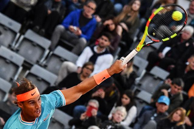Rafael Nadal has won the Italian Open eight times. (AFP Photo/Andreas SOLARO)