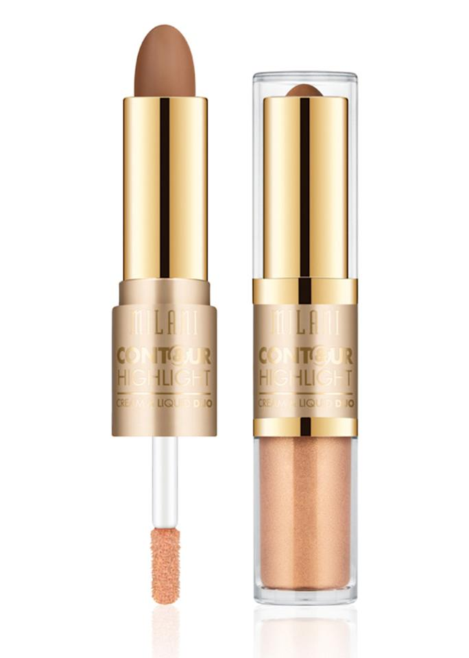 "Milani Contour & Highlight Cream & Liquid Duo, $11; at <a rel=""nofollow"" href=""https://milanicosmetics.com/Contour-and-Highlight-Cream-and-Liquid-Duo.html"" rel="""">Milani</a>"