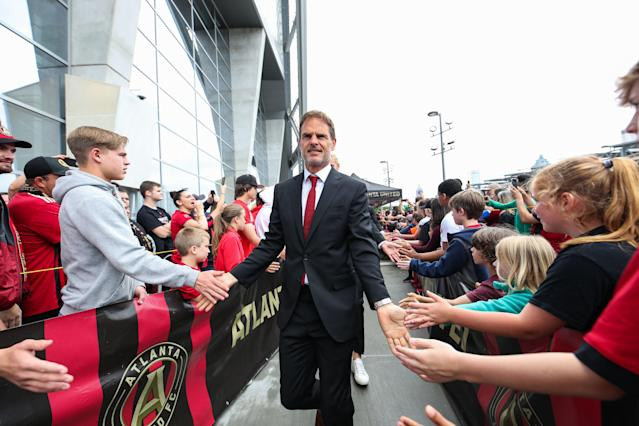 Fans are warming up to the job Frank de Boer is doing with defending MLS champion Atlanta United. (Getty)