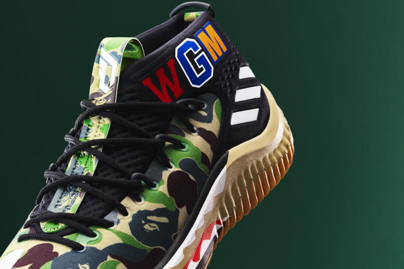 43de7507359674 Adidas to Release 3 Limited-Edition Bape x Damian Lillard Sneakers During  NBA All-Star Weekend