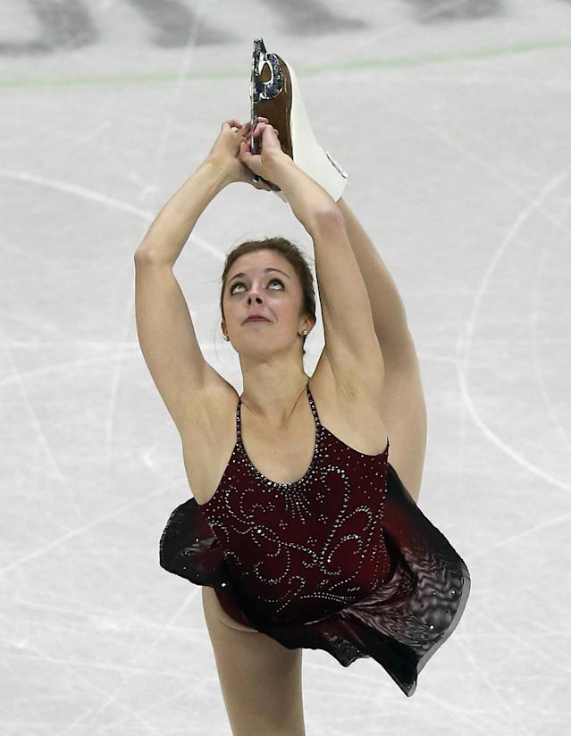 OMAHA, NE - JANUARY 24: Ashley Wagner competes in the Ladies Short Program during the 2013 Prudential U.S. Figure Skating Championships at CenturyLink Center on January 24, 2013 in Omaha, Nebraska. (Photo by Jonathan Daniel/Getty Images)