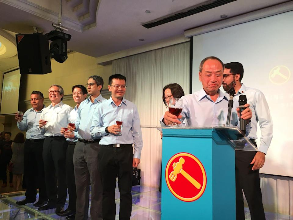 Workers' Party chief Low Thia Khiang announced his decision to step down at the WP's 60th anniversary dinner on 3 November, 2017. PHOTO: Nicholas Yong/Yahoo News Singapore