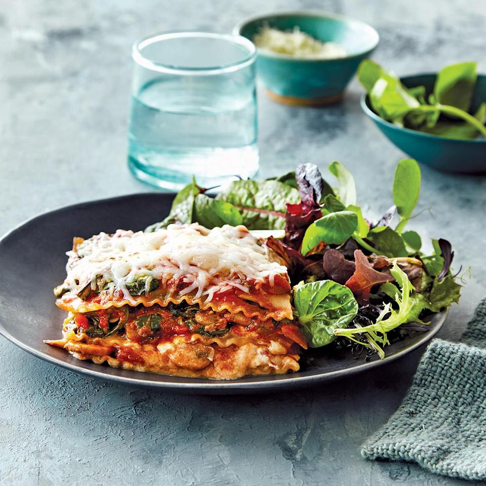 <p>Cooking lasagna in your slow cooker rather than in the oven keeps it super moist and cheesy--just like lasagna should be. You can easily assemble this dish in the slow cooker ahead of time and refrigerate it. Just be sure to let the slow cooker come to room temperature before starting it so that the cook time is accurate. Serve with a green salad, if desired.</p>