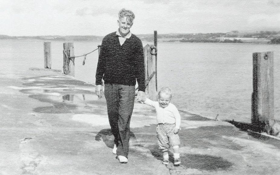 John William with his first grandchild, Andrew - Parkinson Productions