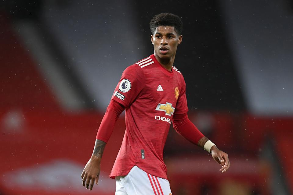 Manchester United striker Marcus Rashford has been campaigning for free meals to be provided to children over the school holidays. (Photo: MICHAEL REGAN via Getty Images)