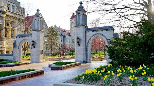 PHOTO: The entrance of the college campus of Indiana University Bloomington is seen here in this undated file photo. (STOCK PHOTO/Shutterstock)