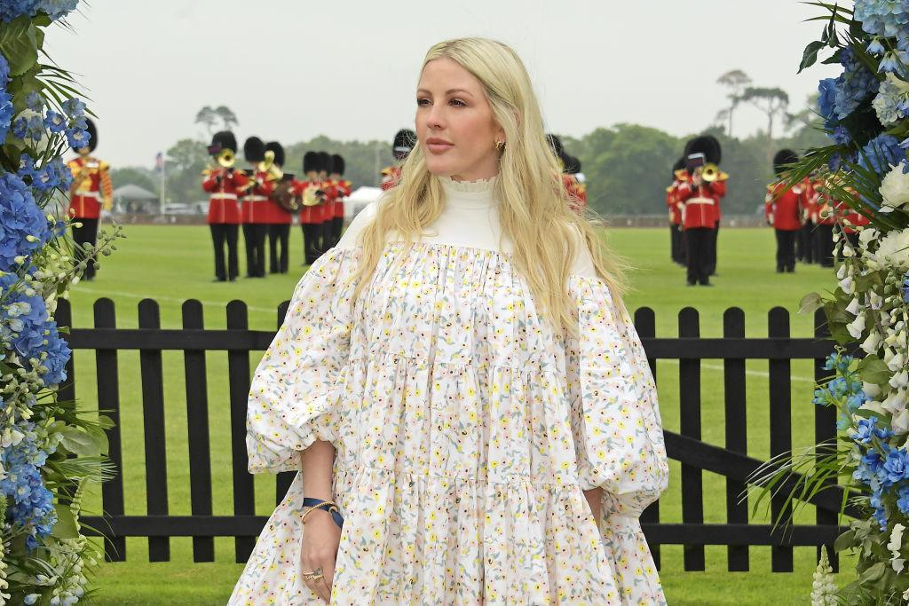 Ellie Goulding appeared on Lorraine this morning to discuss new motherhood and her decision to keep her pregnancy a secret. Pictured in June, 2021. (Getty Images)