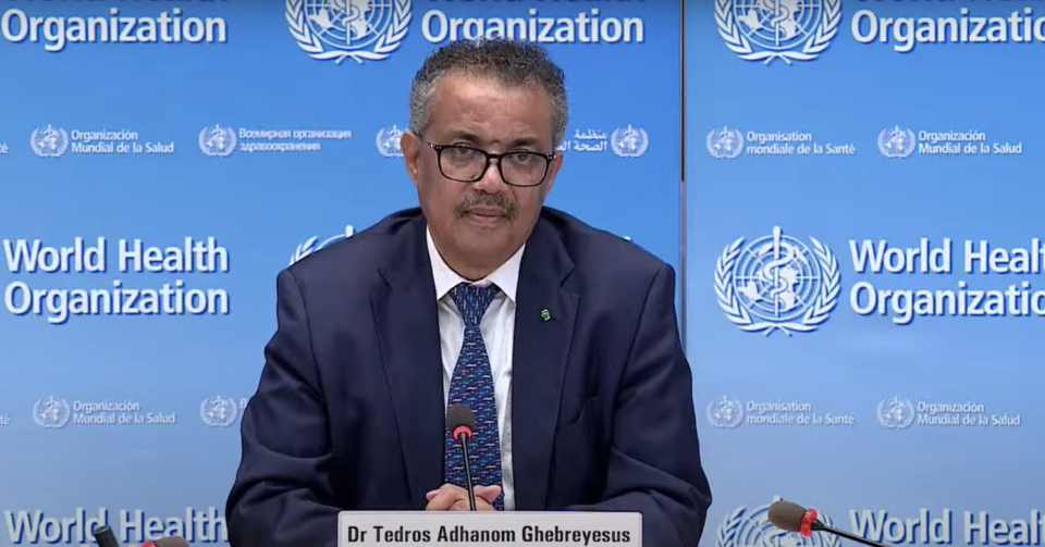 Dr Tedros Adhanom Ghebreyesus said on Monday that the coronavirus pandemic 'is not even close to being over'. (WHO)