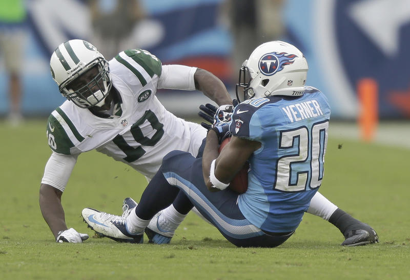Jets' Holmes: 'I can't throw it to myself'