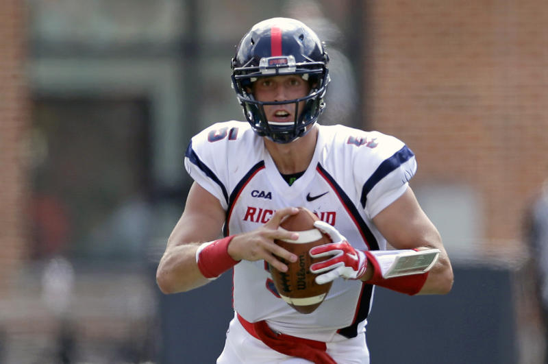 The Giants drafted Richmond quarterback Kyle Lauletta, a year after drafting quarterback Davis Webb. (AP)