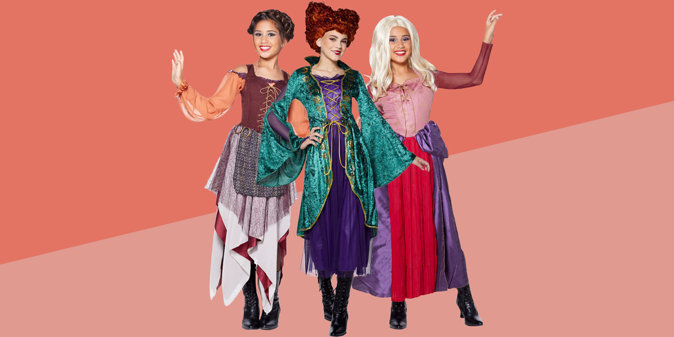 "<p>If you find yourself saying, ""Oh look. Another glorious morning. Makes me sick!"" ... we have the perfect <a target=""_blank"">Halloween costume</a> for you. There's no better option than recreating Bette Midler's iconic <em><a href=""https://www.goodhousekeeping.com/holidays/halloween-ideas/g22625698/hocus-pocus-spirit-halloween-collection/"" target=""_blank"">Hocus Pocus</a> </em>ensemble. Gather two friends, or your daughters, and complete the evil coven with your Sarah and Mary. Together, you'll be unstoppable (and might spook some trick or treaters who just watched the movie). These spell-binding <em>Hocus Pocus</em> costumes combine everything we really love: nostalgia, friendship, and sisterhood. </p><p>Do you and your pals feel ready to cast a spell on everyone you meet on October 31? <a href=""https://www.goodhousekeeping.com/holidays/halloween-ideas/g28073110/halloween-costumes-for-3-people/"" target=""_blank"">You and your trio</a> will be prepared with the wigs, capes, and personalities of Winifred, Sarah, and Mary. If there's an additional member, feel free to add to the Sanderson family with a <a href=""https://www.goodhousekeeping.com/holidays/halloween-ideas/a24170356/diy-witch-costume/"" target=""_blank"">classic witch costume</a>. And if you're hoping to scare <em>everyone</em> around you, bring a fourth friend along to dress as Billy Butcherson (yes, we found a costume for him too!). As you organize these costumes for your epic Halloween night, watch <em>Hocus Pocus</em>, or any of our other favorite<a href=""https://www.goodhousekeeping.com/holidays/halloween-ideas/g2661/halloween-movies/"" target=""_blank""> classic Halloween movies</a>. Remember, you need to memorize as many quotes as possible, so you can recite them all night long. </p>"