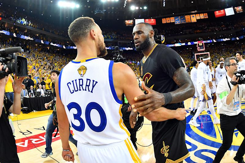 The team-building philosophies of LeBron James and Stephen Curry clashed on Thursday. (Getty Images)
