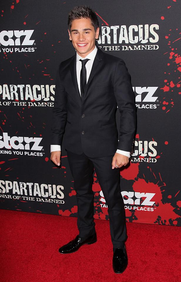 "Christian Antidormi attends the premiere of Starz's ""Spartacus: War of the Damned"" at Regal Cinemas L.A. Live on January 22, 2013 in Los Angeles, California."