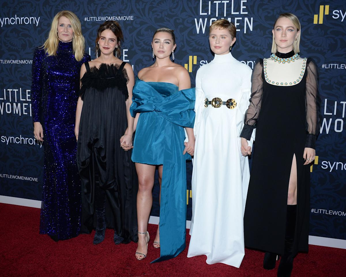 """<p>Greta Gerwig's <a href=""""https://www.harpersbazaar.com/culture/film-tv/a22830604/little-women-remake-spoilers-casting-rumors-greta-gerwig/"""" target=""""_blank""""><em>Little Women</em> remake</a> comes out on December 25. Ahead of the movie's official release, the cast hit the red carpet in New York, and they had an absolute ball. From Timothée Chalamet's antics, to Laura Dern's glittering gown, we take a look at the best moments from the <em>Little Women</em> premiere.</p>"""