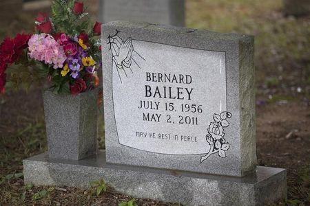The gravesite of Bernard Bailey is seen at Springfield Missionary Baptist Church in Eutawville, South Carolina December 4, 2014.  REUTERS/Randall Hill