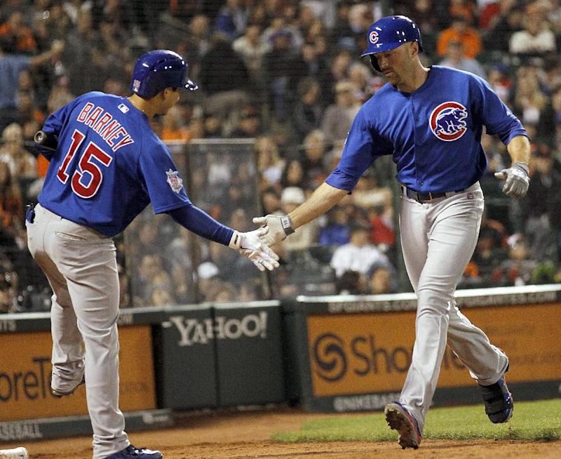 Schierholtz's HR in 9th lifts Cubs over Giants 1-0